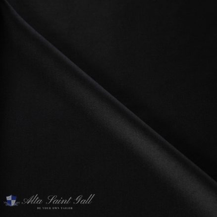 Tailor Box - Wool satin double face black